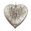 Glass Lamp Pendant Heart 26mm Diamond/Silver
